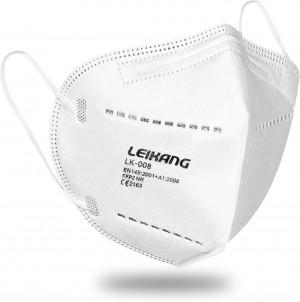 Leikang FFP2-Atemschutzmasken, einzeln verpackt, CE 2163, 20 Stück